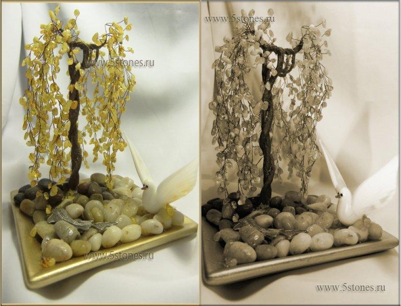 Дерево счастья из янтаря