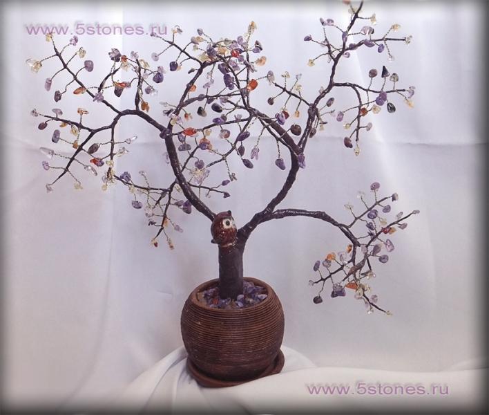Дерево из камней Мудрое счастье