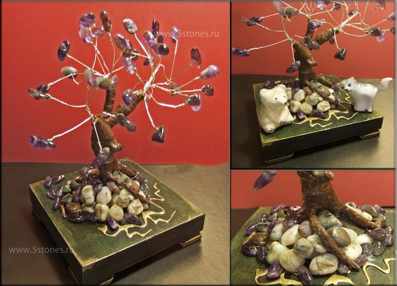 Дерево счастья аметистовое