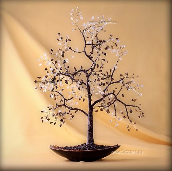 Дерево счастья Стиль монохромности