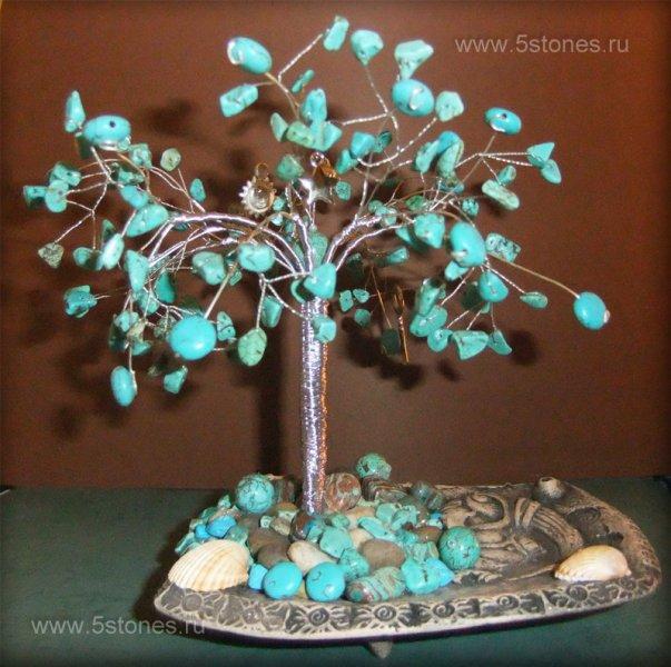 Дерево счастья из бирюзы