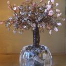 Дерево счастья из розового опала