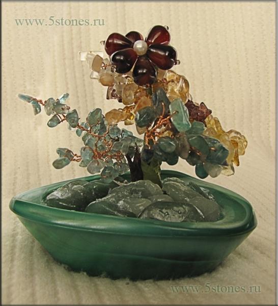 Зеленое чудо из натуральных камней